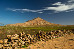 Desert mountain, Fuerteventura,. Desert mountain in the north of Fuerteventura, Canary Islands, Spain Stock Photos