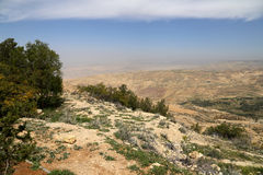 Desert mountain landscape (aerial view), Jordan, Middle East Royalty Free Stock Photos
