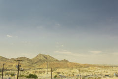 Desert mountain landscape in El Paso Royalty Free Stock Image