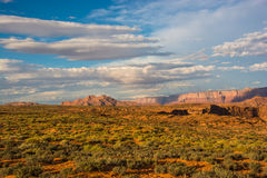 Desert and mountain landscape near Horseshoe Bend Royalty Free Stock Image
