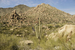 Desert mountain landscape near Phoenix,Scottsdale,AZ Royalty Free Stock Photo
