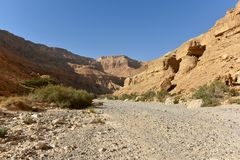 Desert mountain landscape stock image