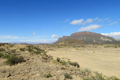 Desert and mountain landscape Royalty Free Stock Images