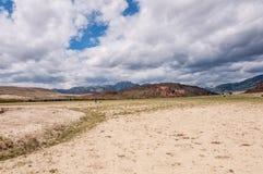 Desert mountain man photographer Royalty Free Stock Photo