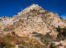 Desert Mountain Peak in Zion Stock Photography