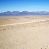 Desert and mountain range. Royalty Free Stock Images