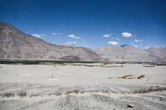 Desert among mountain range. In the north of India stock photography