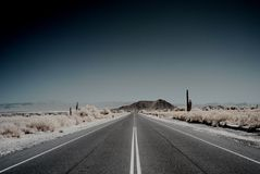 Desert Mountain Road Stock Image