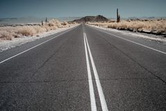 Desert Mountain Road Stock Image