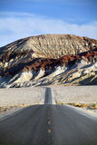 Desert mountain road - death valley CA royalty free stock photography