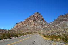DESERT MOUNTAIN ROAD Stock Photography