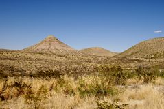 Desert Mountain Scenery Stock Photo
