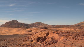 Desert mountain in the Sinai Peninsula stock footage