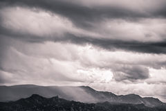 Desert Mountain Storm Clouds Royalty Free Stock Images