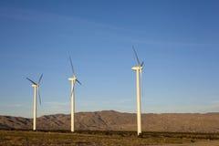 Desert Mountain Wind Power Stock Photography