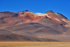 Desert and mountainous landscape in Altiplano Royalty Free Stock Images