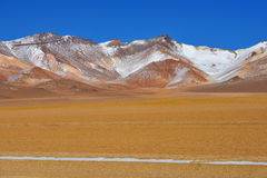 Desert and mountainous landscape in Altiplano Stock Photo