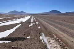 Desert and mountainous landscape in Altiplano Stock Images