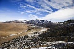 Desert and Mountains Stock Photos