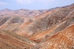 Desert Mountains. Sand and rocky mountains on Fuerteventura, Canary Islands Stock Photo