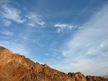 Desert Mountains. And high clouds. Eilat, Israel stock images