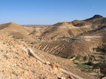 Desert and mountains. Tunisian desert Stock Photography