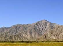 Desert Mountains, California. Mountains of southern California in Anza Borrego Desert State Park overshadowing the little town of Borrego Springs, in southern Royalty Free Stock Photos