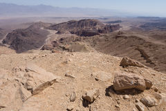 Desert mountains and cliffs. Stone desert mountains cliffs canyons, Negev, Israel Royalty Free Stock Photo