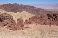 Desert mountains and cliffs. Stock Image