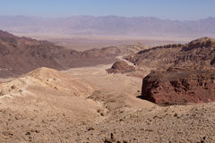Desert mountains and cliffs. Stone desert mountains cliffs canyons, Negev, Israel Stock Photography