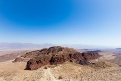 Desert mountains and cliffs. Stone desert mountains cliffs canyons, Negev, Israel Stock Photos