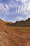 The desert in mountains in Israel Royalty Free Stock Image