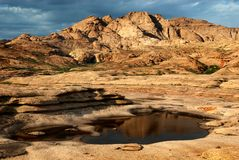 Desert mountains after rain Stock Images