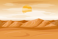 Desert mountains sandstone background vector illustration Royalty Free Stock Photos