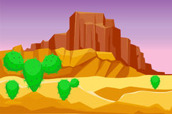 Free Desert Mountains Sandstone Wilderness Landscape Background Dry Under Sun Hot Dune Scenery Travel Vector Illustration. Stock Photos - 94992263