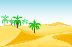 Desert mountains sandstone wilderness landscape background dry under sun hot dune scenery travel vector illustration. Environment scene sandstone africa Stock Photos