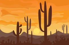 Desert mountains sandstone wilderness landscape background dry under sun hot dune scenery travel vector illustration. Environment scene sandstone africa Stock Photography