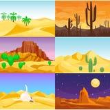 Desert mountains sandstone wilderness landscape background travel vector illustration. Desert mountains sandstone wilderness landscape background dry under sun Stock Image