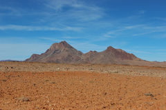 Desert mountains. Spacious view of rocky desert Stock Photo