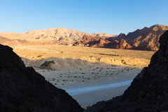 Desert mountains on sunrise. Stock Image