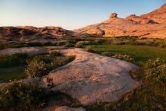 Desert mountains at sunset Royalty Free Stock Photo