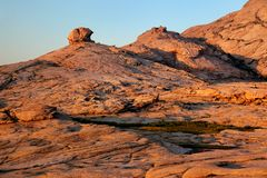Desert mountains at sunset Stock Photography