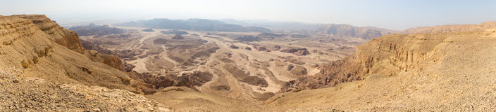 Desert mountains valley landscape view, Israel traveling nature Stock Image