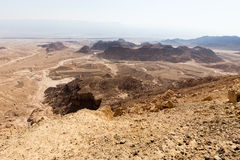 Desert mountains valley landscape view, Israel traveling nature. Desert mountains valley landscape scenic beautiful view, Arava , Timna park Sasgon Israel Stock Image