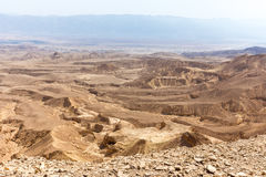 Desert mountains valley landscape view, Israel traveling nature. Desert mountains valley landscape scenic beautiful view, Arava Israel traveling tourism Stock Photography