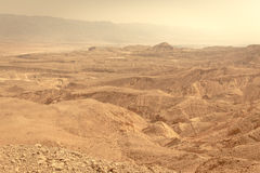 Desert mountains valley landscape view, Israel traveling nature. Desert mountains valley landscape scenic beautiful view, Arava Israel traveling tourism Royalty Free Stock Photo