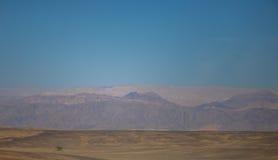 Desert and mountains view Stock Photos