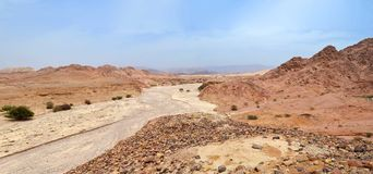 Desert of Nahaus. Ancient Copper sties Khirbet en-Nahas, Jordan royalty free stock photo