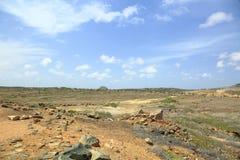Desert natural beauty of Aruba. North coast Aruba Island. Royalty Free Stock Photos