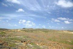 Desert natural beauty of Aruba. North coast Aruba Island. Stock Photography
